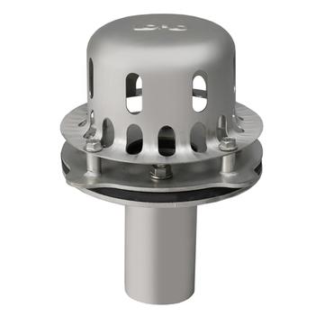 LOROWERK Drainlet Ablauf senkrecht DN 50 mm Mini ohne Wärmedämmung für Kastenrinne