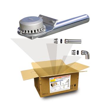 LOROWERK X-BOX Attika Schnellablauf 100 mm Nr. B0480. 002X für Druckströmung