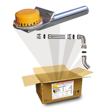 LOROWERK X-BOX Attika Notablauf DN100 Nr. B0482. 002X für Druckströmung