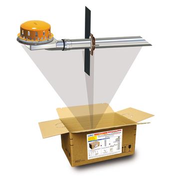 LOROWERK X-BOX Attika Notentwässerung DN100 Nr. B0485. 004X für Freispiegelströmung