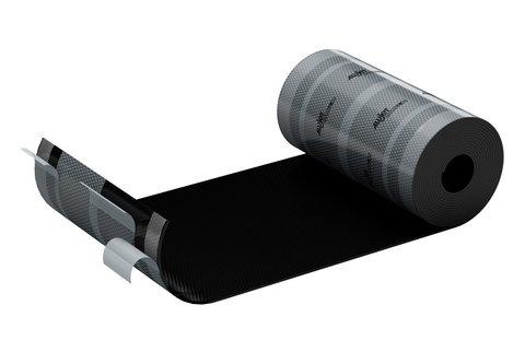 ALUJET Fixroll 4D 280 mm 5 m Wand- und Kaminanschluss Schwarz