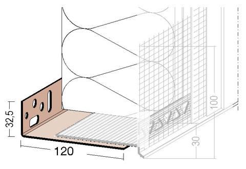 SOPREMA Pavacasa Sockelmontageprofil 120-220 mm 2,0 m Kunststoff