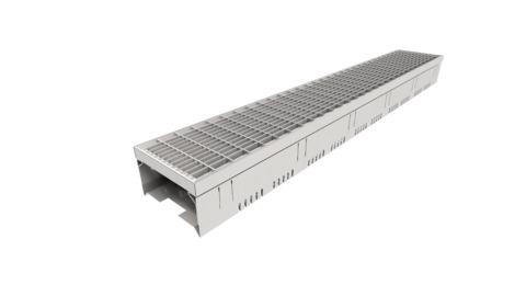 Reichlmeier DrainTec Dachrinne 150/100 L = 1000 mm, komplett mit Maschenrost Edelstahl V2A