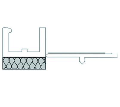 Quick-Mix Anputzleiste Mini 2,40 m APU-mini, PVC-Profil