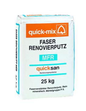 Quick-Mix Faser-Renovierputz MFR 25 kg Hellgrau