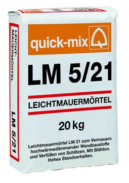 Quick-Mix Leichtmauermörtel LM5/21 20 kg mit Blähton