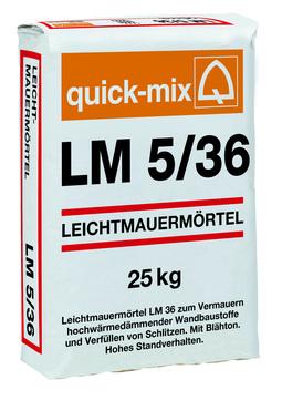 Quick-Mix Leichtmauermörtel LM5/36 25 kg LM 36 40Sa/Pal