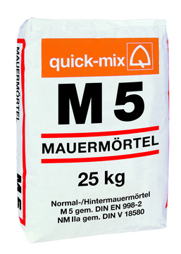 Sievert/Quick-Mix Hintermauermörtel M5 25kg 48 Sack je Palette