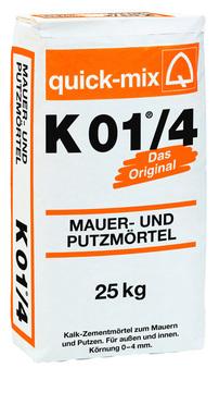 Quick-Mix Mauer- und Putzmörtel K01/4 25 25 kg