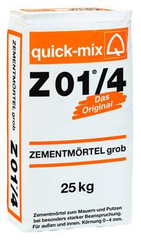 Quick-Mix Zementmörtel Z01/4 25 kg 0-2 mm