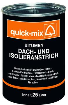 Quick-Mix Dach- und Isolieranstrich BDI 10 l Bitumen, lösemittelhaltig
