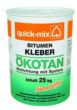 Quick-Mix Ökotan Bitumenkleber 25 kg/Gebinde