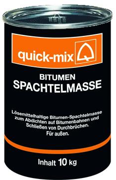 Quick-Mix Spachtelmasse Bitumen BSM 10 kg Bitumen