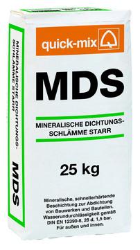 Quick-Mix Dichtschlämme mineralisch MDS 25 kg Verbrauch 3,4-6,8 kg/m2