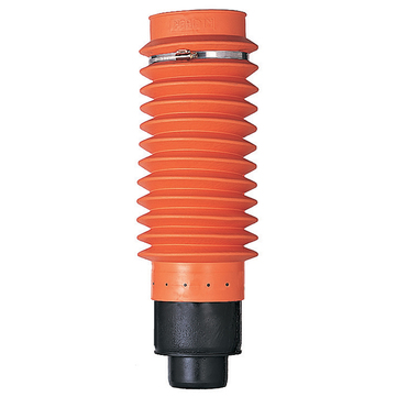 Klöber KE8040-1 Anschlussschlauch flexibel DN100 Weich-PVC Länge 500mm mit Adapter Orange