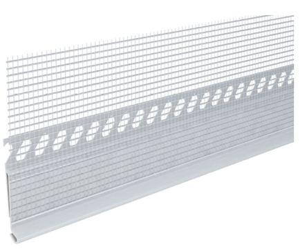 INTHERMO Blechanschlussprofil mit Gewinde mit Gewebe 2 m/Karton