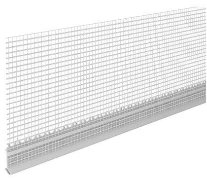 INTHERMO Inthermo Holzfaserdämmplatte Sockelprofil 50 m/Rolle zum Aufstecken Alu