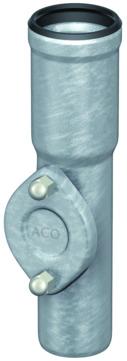 ACO Passavant Regenstandrohr GM-X DN 100 mit Reinigungsdeckel Länge 1000 mm Verzinkt