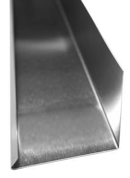 Palmer Anschlussleiste 250x0,7 mm 2 m Titanzink