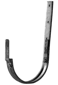 Palmer 7-teilige Rinnenhalter halbrund 30x4 mm Feder/Feder mit Sicke und Feder/Feder Kupfer