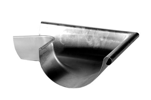 Palmer 6-teilige Rinnenaußenwinkel halbrund tiefgezogen Titanzink