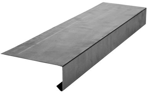 Palmer Flachdach Traufe 200/0,7 mm glatt 2 m Höhe 50 mm 90 Grad Kupfer