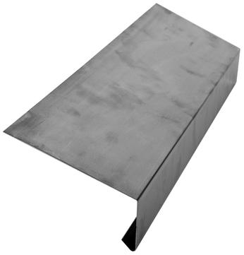 Palmer Traufe 250/0,7 mm glatt 3 m Höhe 65 mm 110 Grad Titanzink