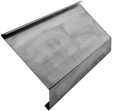 Palmer Ziegeltraufe 200x0,7 mm mit Falz 2 m Höhe 50 mm 135 Grad Kupfer