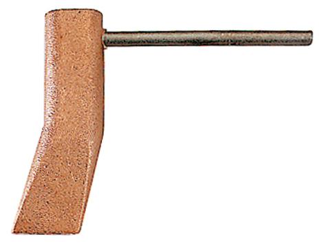 GCE Kupferstück Hammerform gekröpft 350 g Nr.810 Hammerförmig