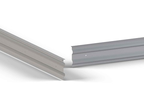 alwitra Wandanschlussprofil FP60 Profil 60mm Aluminium