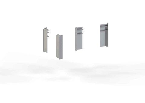 alwitra Wandanschlussprofil WA1-ÜK 150 Endkappe links Aluminium