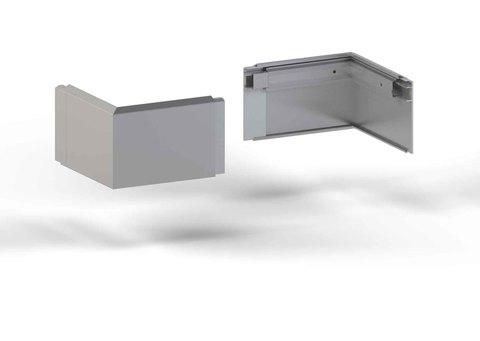 alwitra Wandanschlussprofil WA1-ÜK Außenecke 150 Zulage mit Zubehör Aluminium