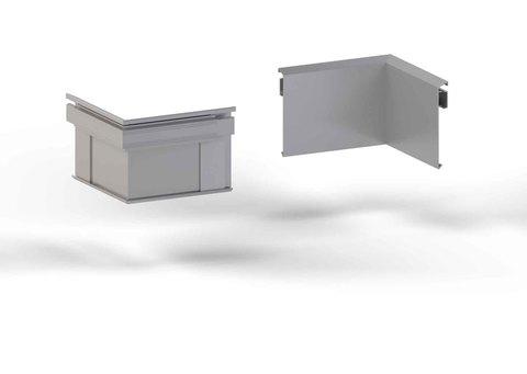 alwitra Wandanschlussprofil WA1-ÜK Innenecke 150 Zulage mit Zubehör Aluminium