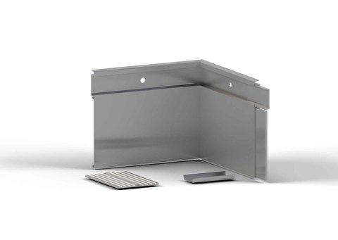alwitra Wandanschlussprofil WA150 Innenecke mit Zubehör Aluminium
