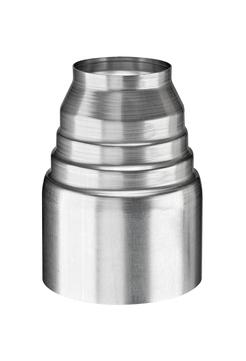 Grömo 6-teilige Passkonus 100/60 mm Titanzink