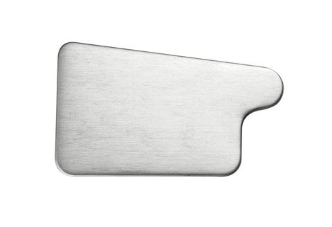 Grömo 6-teilige Rinnenboden Kasten links zum Löten 333 mm Titanzink