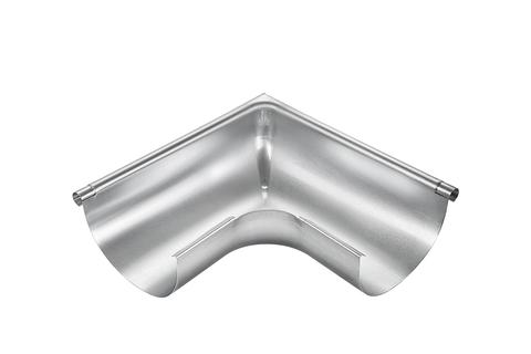 Grömo 8-teilige Rinnenaußenwinkel halbrund 0,65 mm Außeneck gezogen 250 mm Titanzink