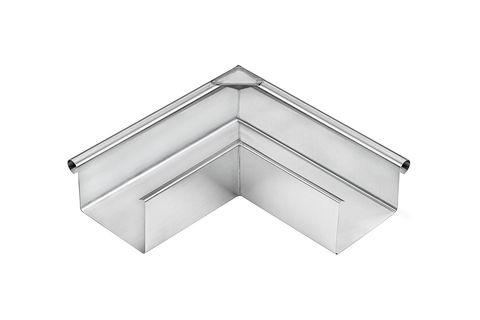 Grömo 8-teilige Rinnenaußenwinkel Kasten 0,65 mm Außeneck gelötet 250 mm Titanzink