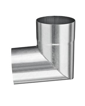 Grömo 10-teilig Rohrwinkelbogen 87° 60 mm zum Stecken Titanzink