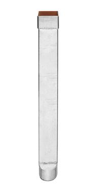 Grömo 6-teilige Standrohr 1,0 m DN100x100 Verzinkt