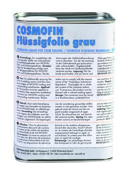 WOLFIN Cosmofin Flüssigfolie 0,85l im Gebinde für Nahtversiegelung Grau