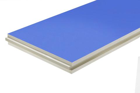 puren Dämmplatte ST-blau 80 mm Nut/Feder 2400x1020 mm kaschiert WLS 027