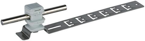 Dehn&Söhne Blitzschutz-Dachleitungshalter Bauhöhe 16 mm/205 mm grau Edelstahl V2A