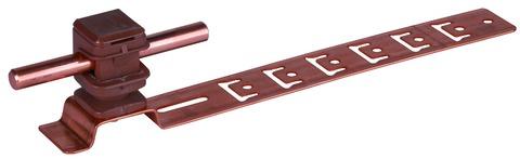 Dehn&Söhne Blitzschutz Dachleitungshalter 204147 Bauhöhe 16mm/205mm braun Kupfer