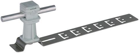 Dehn&Söhne Blitzschutz-Dachleitungshalter Bauhöhe 36 mm/205 mm grau Edelstahl V2A