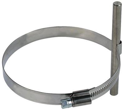 Dehn&Söhne Blitzschutz-Leitungshalter verstellbar für Rohre 80-100 mm Edelstahl V2A