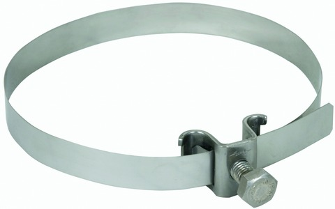Dehn&Söhne Blitzschutz-Leitungshalter verstellbar für Rohre 50-120 mm Edelstahl V2A