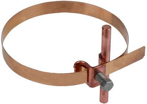 Dehn&Söhne Blitzschutz Leitungshalter 200027 verstellbar für Rohre 50-120 mm Kupfer
