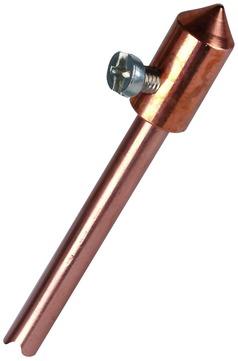 Dehn&Söhne Blitzschutz-Fangspitze 30 mm Kupfer