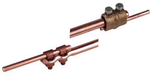 Dehn&Söhne Erdeinführungsstange 16 mm 1500 mm mit Anschlussklemmen Kupfer